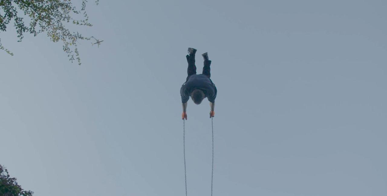 A man on a swing