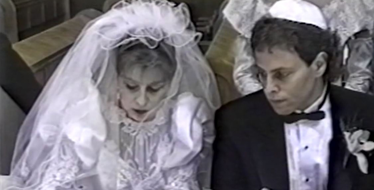 Home video of a wedding