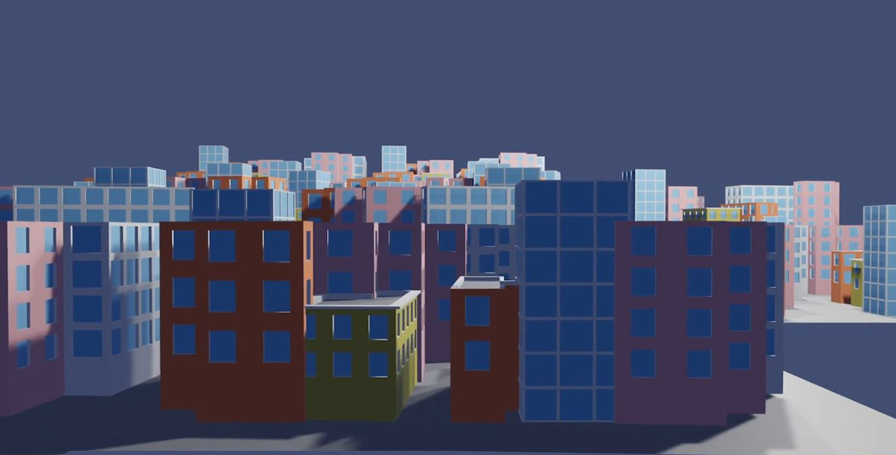 A 3D generated skyline